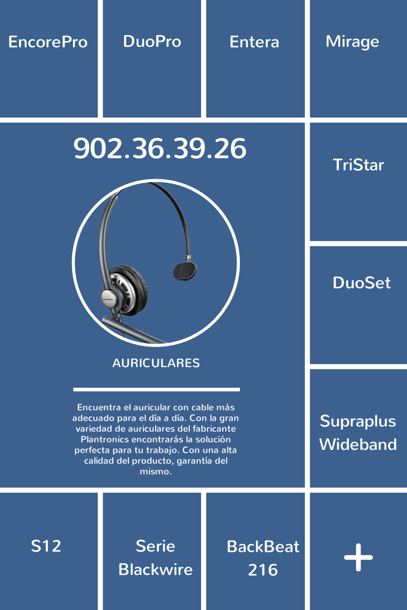 Auriculares con Cable Plantronics